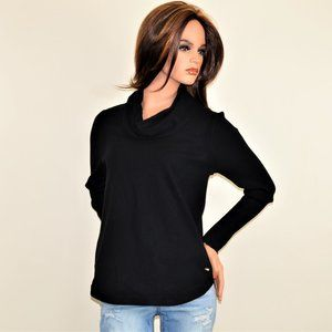 NWT CALVIN KLEIN Cowl Ribbed Sleeve Sweater Size:M